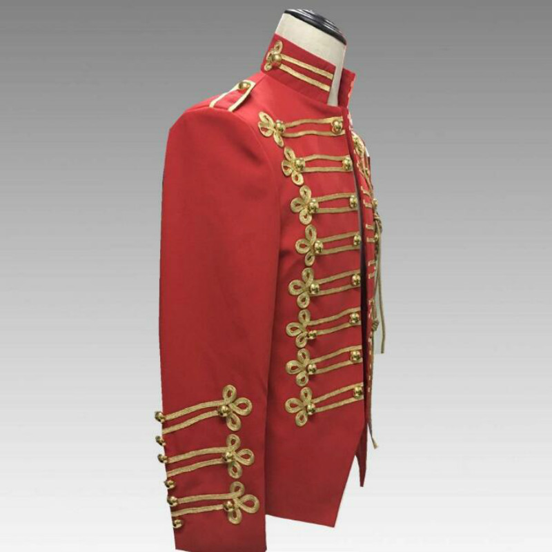 European And American Style Michael Jackson With The Red Court Uniform 2019 New Men's Personality Red Suit