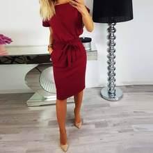 2b7738ba8 Short Sleeve Summer Dress for Office - Compra lotes baratos de Short ...