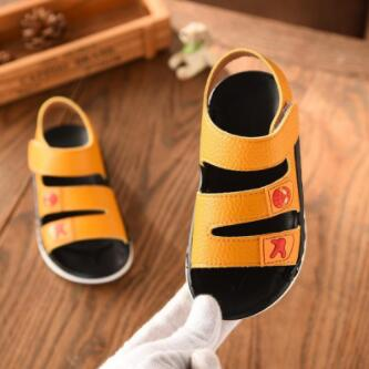 Kids Summer Sandals Boys Sandals Summer Little Kids Shoes For Boy Sandals Leather Baby Shoes Soft Rubber Bottom