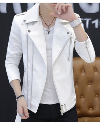The New 2020 Cultivate One's Morality Young Handsome Leather Fashion Leather Jacket Lapels Fashion