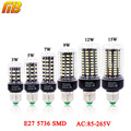 Bombilla LED SMD 5736 E27 LED luz de la lámpara de 3 W 5 W 7 W 9 W 12 W 15 W LED Luz de maíz bombillas AC 110 V 220 V Lampada No parpadeo constante actual