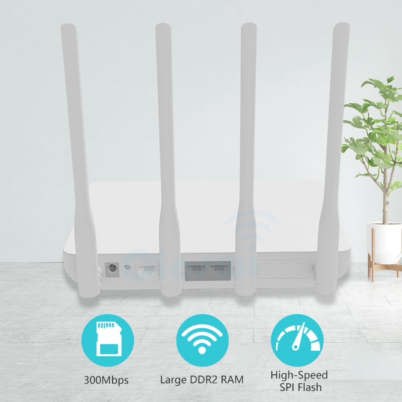 Image 2 - 300mbps Long range wifi router for home/apartment mobile router wi fi wireless access point 2.4ghz MTK7628 chip strong signal-in Wireless Routers from Computer & Office