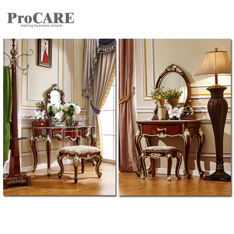 Factory Price Customized White Design Dressing Table With Stool - 6003 ...