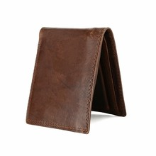 HiLEDER Cow Leather Men Wallets with Coin Pocket Vintage Male Purse Function Brown Genuine Leather Men Wallet with Card Holders