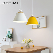 BOTIMI Nordic LED Pendant Lights For Dining Lampadario Modern Pendant Lamp Restaurant Luminaria Indoor Hanging Lighting Fixtures nordic retro pendant lights for dining kitchen lampadario vintage metal hanging lamp indoor luminaria light fixtures