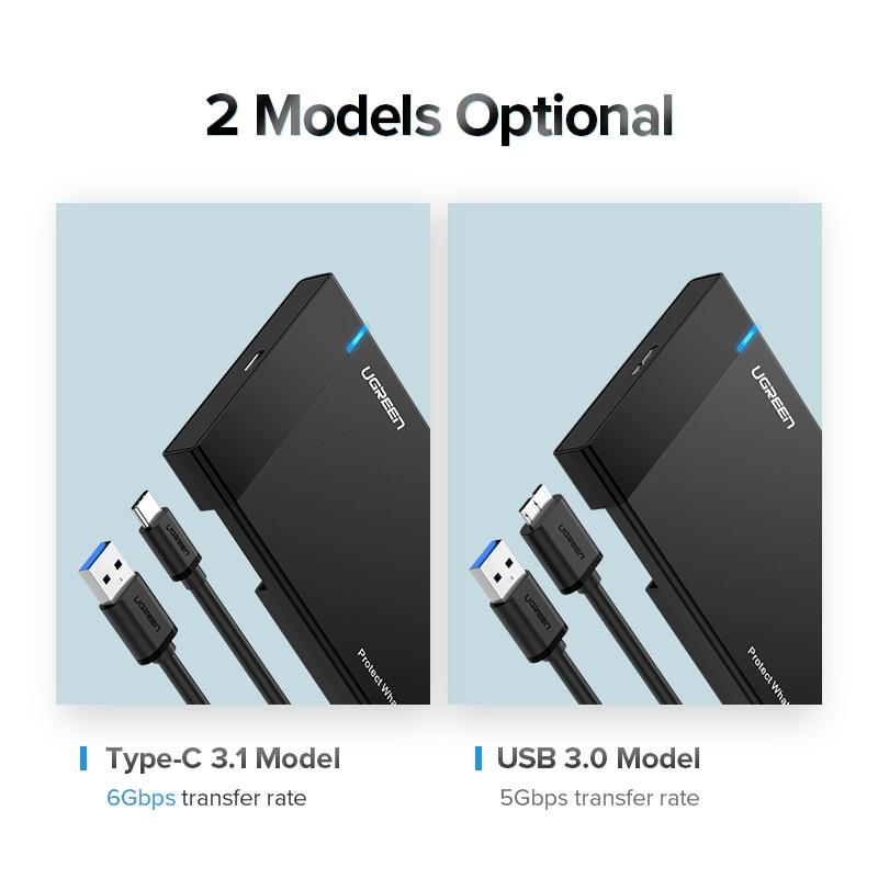 Ugreen HDD-fall 2.5 SATA till USB 3.0-adapter Hårddiskhölje för - Extern lagring - Foto 6