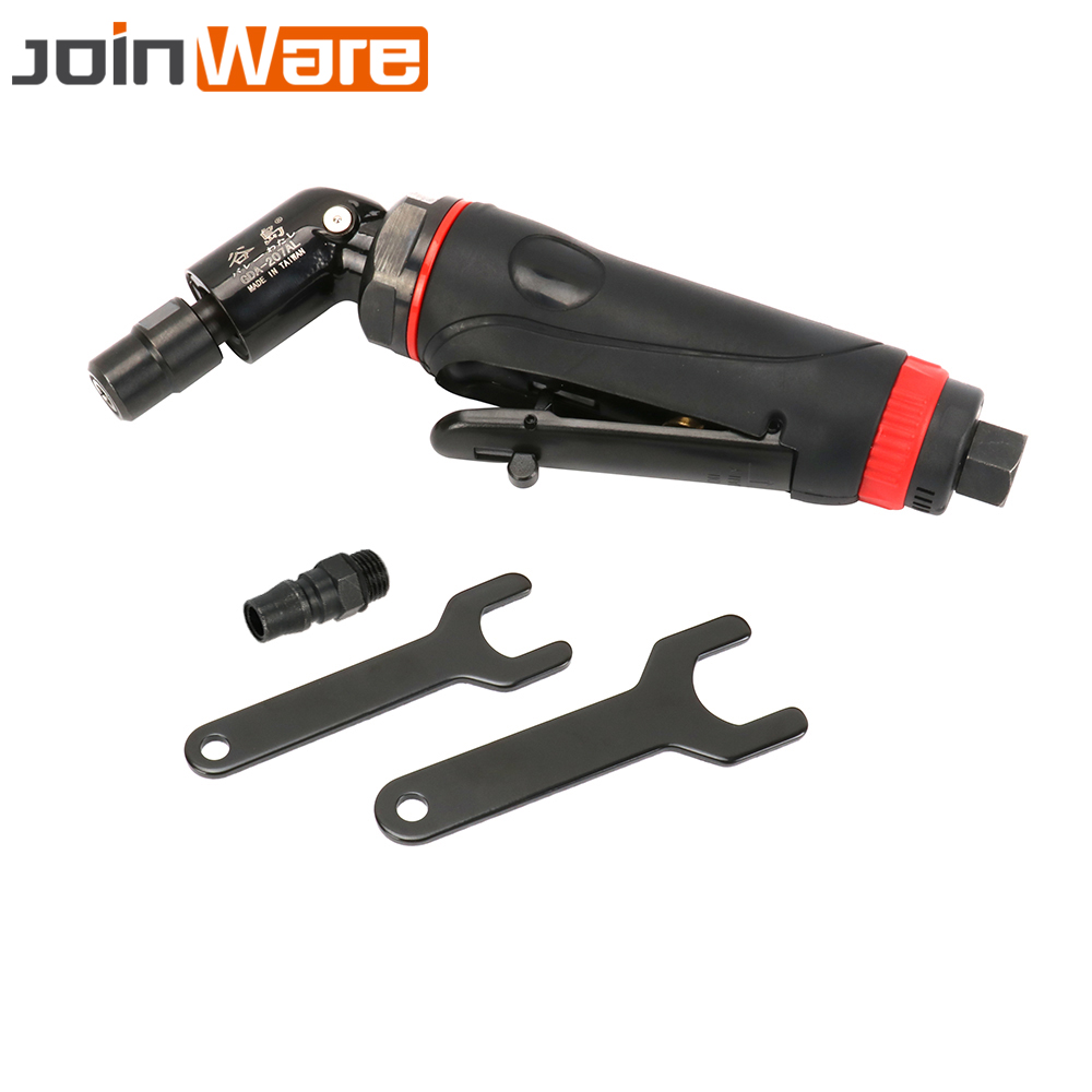 """1/4"""" Pneumatic Air Angle Die Grinder 120 Degree Grinding Mill Engraving Tool Polishing Machine For Pneumatic Tools 25000RPM"""