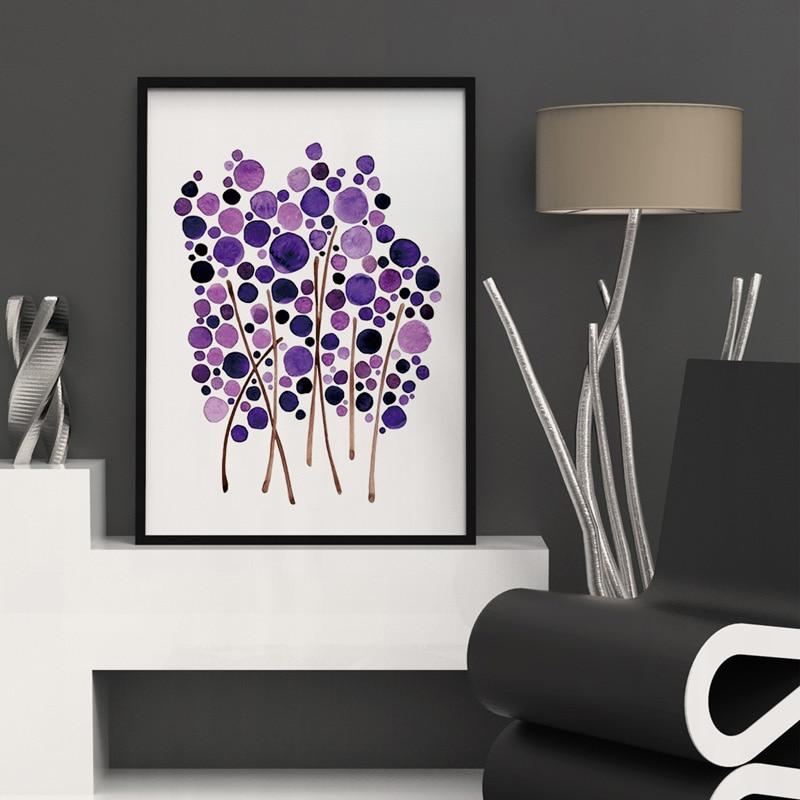 Aquarell Baum Blau Rosa Farbe Kunst Botanik Malerei Wandkunst Wohnzimmer  Inspiration Aufkleber Hauptdekor Nursery Wandkunst K115 In Aquarell Baum  Blau Rosa ...