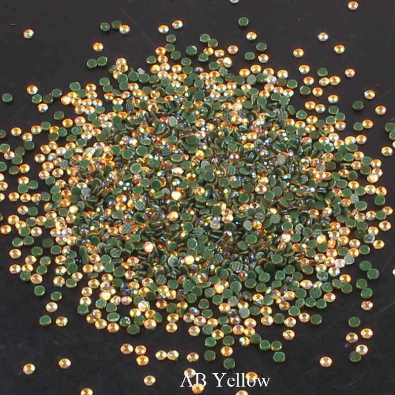 Hierro en cristal piedras de imitación y cristales Hotfix uñas de diamantes de imitación de AB de espalda plana para ropa artesanal decoración de apliques para uñas