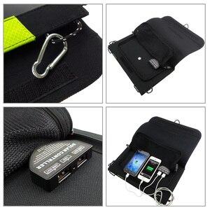Image 4 - 20W 5V güneş enerjili telefon şarj cihazı çift USB çıkışı taşınabilir GÜNEŞ PANELI iPhone Samsung Xiaomi Huawei için akıllı telefonlar