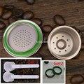 Envío libre del enchufe de Fábrica DIY de Metal de Acero Inoxidable Cafetera nespresso Cápsula Compatible Recargable Reutilizable