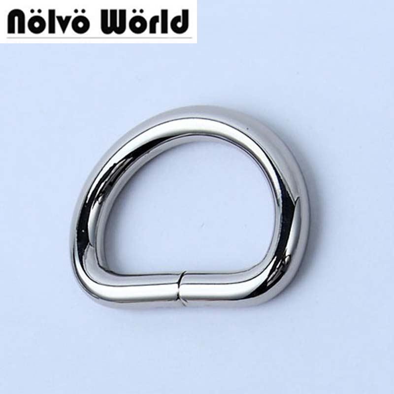 50pcs 5mm Thick Inner 2.5cm 1 Inch Polished Inside Silver Opened D Ring Belt Buckle,zinc Alloy Hardware Metal D-ring