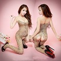 Hot Sexy Lingerie Abrir Crotch Bodystocking Leopard Stocking Bodysuit das Mulheres Novo