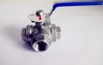 "Free Shipping  1.5"" DN40 Female  Stainless Steel Ball Valve T-type Three Way Connection ,Stainless Steel 304"
