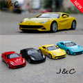 Four Colours 1:32 Scale Diecast Alloy Metal Racing Car Model For The F12 Collection Model Pull Back Toys Car With Sound&Light