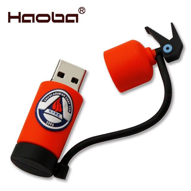 2aa1d17cb3e lowest price USB Flash drive 32GB cartoon fire extinguisher pen drive 16GB  firemen disk memory stick U disk 4GB 8GB pendrive