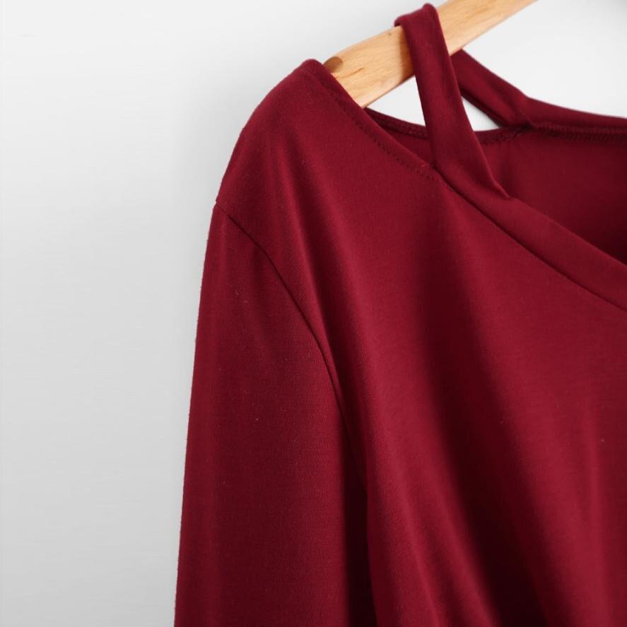 Lady V-Neck Loose Casual Sweatshirt Women Fashion Crop Tops Jumper Women's Vogue Long Sleeve Cropped Pullover Moletom #YL5
