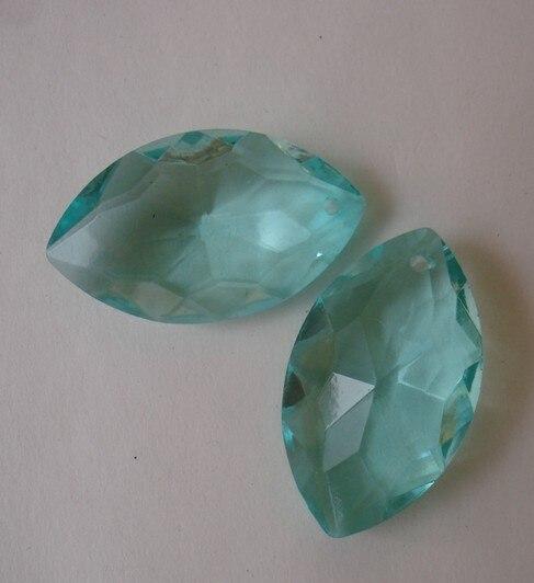 Aquamarine color 360pcs lot 38x22mm crystal chandelier pendants crystal curtain pendants crystal chandelier parts FREESHIPPING
