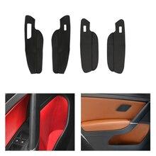 Alleen Linksgestuurde Auto Deur Slot/Armsteun Panel Microfiber Leather Protector Cover Interior Trim Voor Vw Golf 7 2014 2015 2016