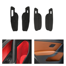only Left Hand Drive Car Door Slot / Armrest Panel Microfiber Leather Protector Cover Interior Trim For VW Golf 7 2014 2015 2016