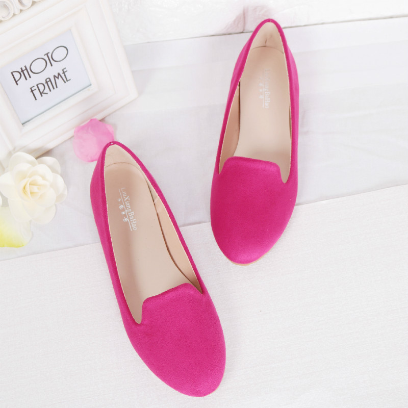 Taomengsi enlarged size womens shoes 41-44 spring and autumn bean shoes flat heel sole single shoes mothers shoes 31-32-33Taomengsi enlarged size womens shoes 41-44 spring and autumn bean shoes flat heel sole single shoes mothers shoes 31-32-33