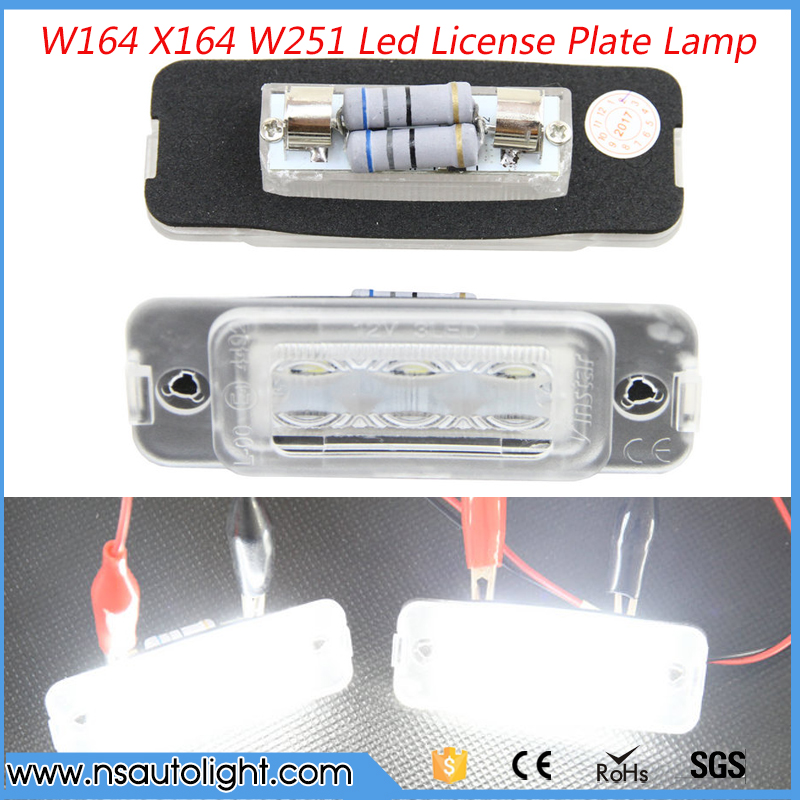 Brand New 2 White Car Error 18 LED License Number Plate Light Lamp for Benz  W164 2005-2011 X164 2007-2012 W251 2006-2011 motorcycle tail tidy fender eliminator registration license plate holder bracket led light for ducati panigale 899 free shipping