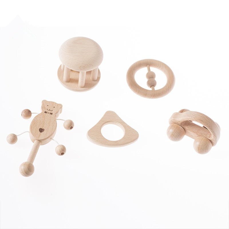 Infant Grasping Toys Soothing Toys For New Baby Wooden Toys Montessori Materials Gift For 3~12months Baby Toys