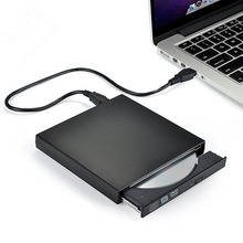 External USB 2.0 DVD RW DVD CD RW Drive Writer Burner CD/DVD -ROM Player slim Portatil For WINDOWS XP/7/8/10 Mac Desktop Laptop