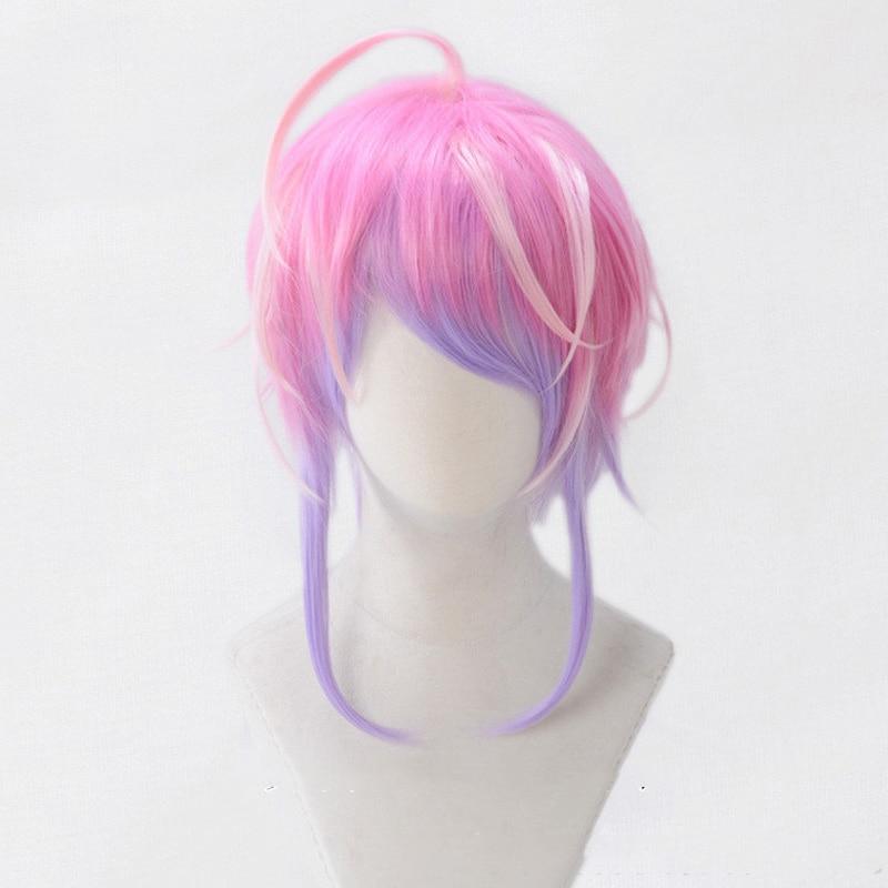 Division Rap Battle Hypnosis MIC Amemura Ramuda Short Wig Cosplay Costume Men Women Heat Resistant Synthetic Hair Wigs + Wig Cap