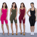 Mulheres Bodysuit Verão Rompers Womens Macacão Sexy Backless 9 cores Shorts Bodycon Jumpsuits American Apparel femme salto terno
