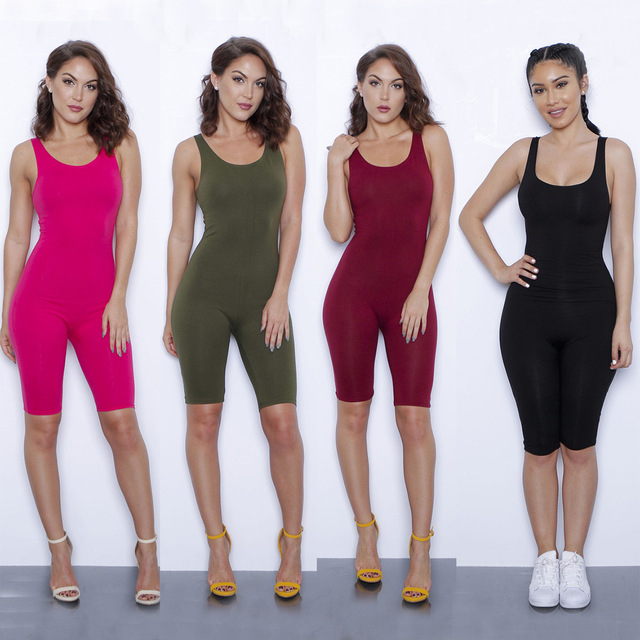 Women Summer Bodysuit Rompers Womens Jumpsuit Sexy Backless 9 colors Shorts  Bodycon Jumpsuits American Apparel femme 894d0d7ff4
