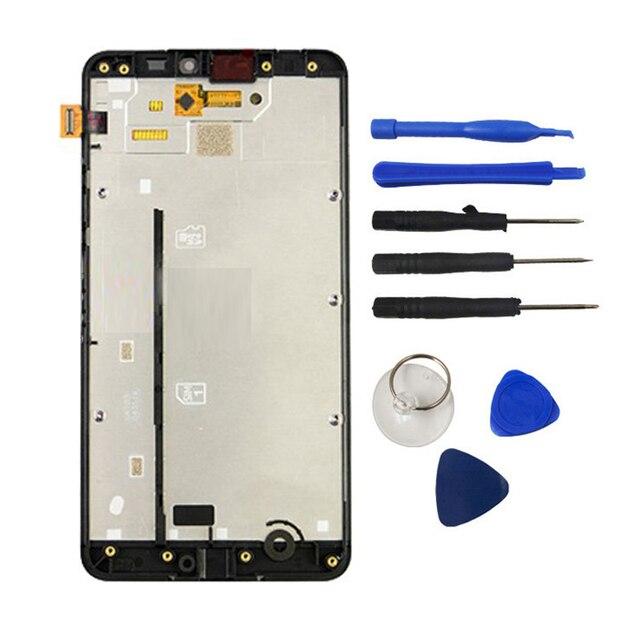 Черный Для Nokia Lumia 640XL N640XL 640 XL ЖК-Дисплей С Сенсорным экрана Планшета Ассамблеи + Рамка шатона Часть Инструмент Логотип Бесплатная Доставка