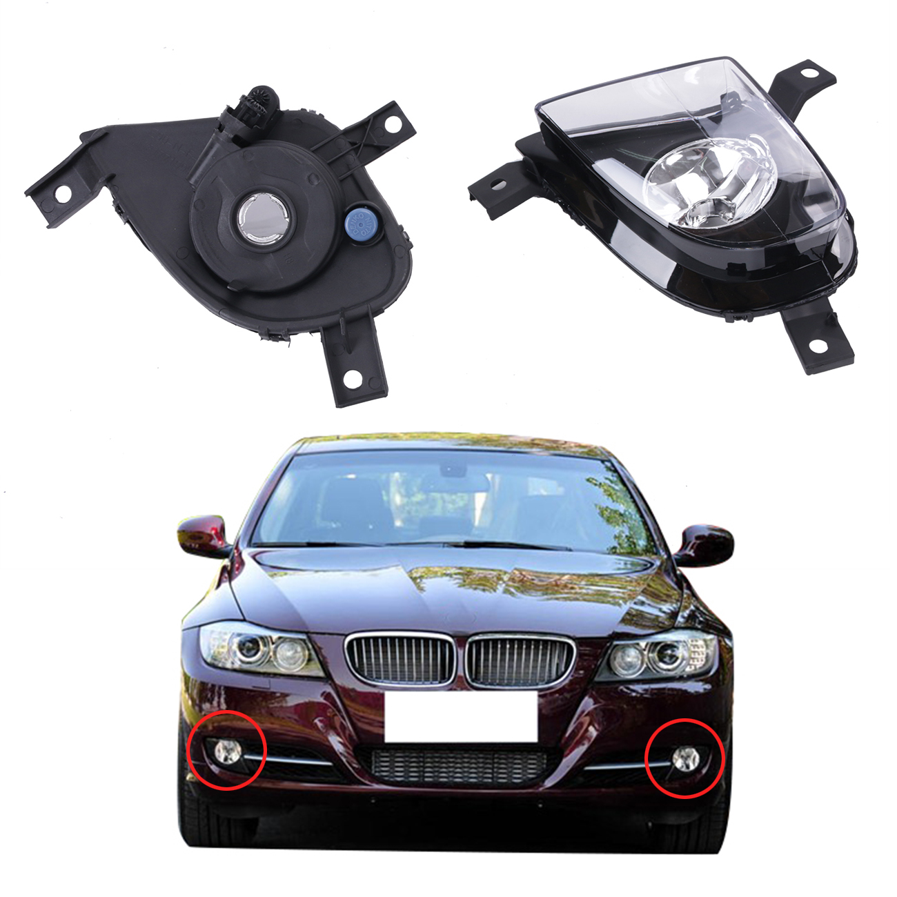 Fog Lights Lamps Foglamps Cover For BMW 3 Series 328i 323i 335d 335i E90 E91 2009 2010 2011 OEM 63177199893 63177199894 #W085 for bmw 3 series e36 318 328 323 325 front coilover strut camber plate top mount green drift front domlager top upper mount