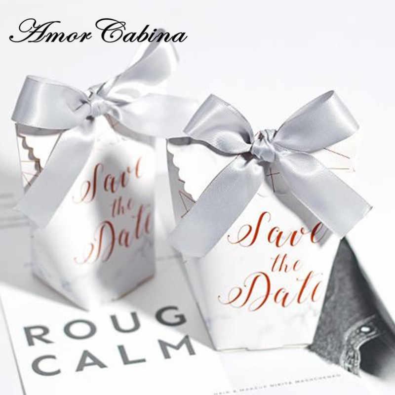 50 шт. Европейский мраморный стиль мешок подарков Романтические свадебные как конфеты коробка из под конфеты Саше вечерние подарочная коробка сувенирная мешок конфет
