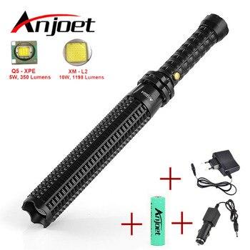 Anjoet Baseball Bat Mace Shaped XML L2 LED Flashlight Zoomable for Security and Self Defense Ultra Bright Baton Torch Ass-Kicker sitemap 19 xml