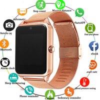 Z60 Смарт-часы GT08 плюс металлический ремешок Bluetooth наручные Smartwatch Поддержка Sim TF карта Android и IOS смарт часы многоязычные PK S8 Y1
