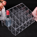 2016 Clear Acrylic 24 Lipstick Holder Display Stand Cosmetic Organizer Makeup Case