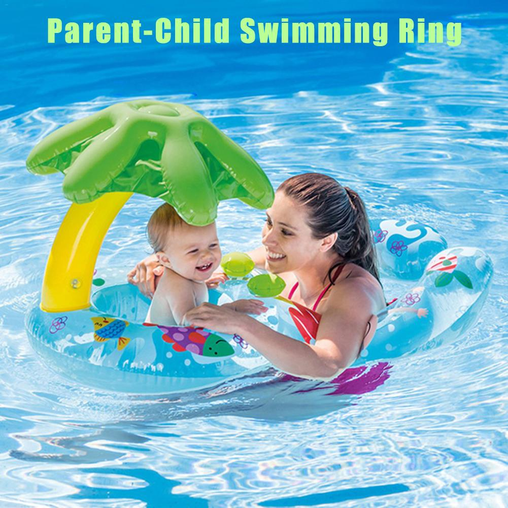 New Baby Swimming Ring Waterproof And Durable Sunshade Newborn Infant Swimming Ring Parent Child Activity Pool Float Toy
