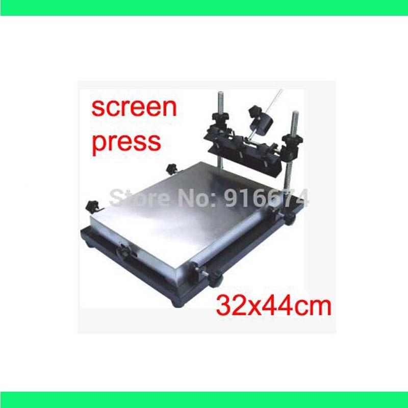 Livraison gratuite Remise Unique couleur manuel écran plat machine d'impression (32 cm x 44 cm) en aluminium plaque Haute qualité