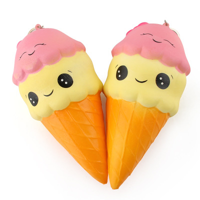 60pcs Squeeze Exquisite Fun Ice Cream Scented Squishy Charm Slow Rising Simulation antistress funny gadgets interesting toys