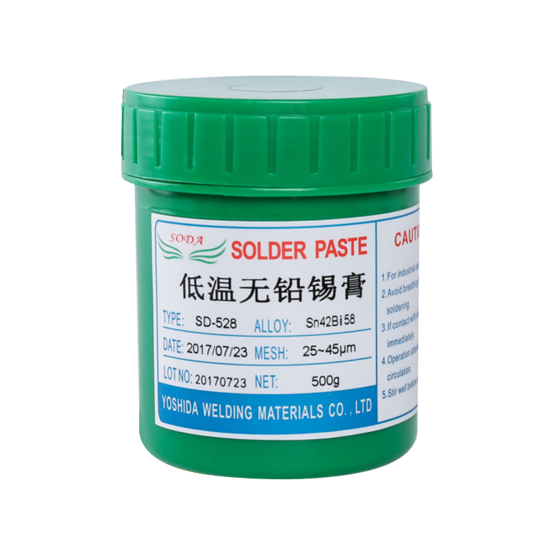 Low temperature lead-free SMT solder paste led solder paste low melting Sn42Bi58 500 grams Price $38.80