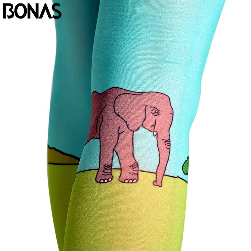 8cd44f82a BONAS Meia calça 3D Pastagem Elephant Impressão Meias Calças Justas  Mulheres Cosplay Collant de Algodão Meia calça De Compressão Collants  Verdes em Collants ...