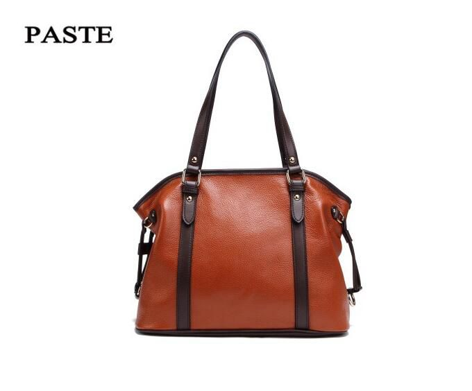 Newest! Women's Casual Shoulder Bags Retro Top-grade Genuine Leather Female Handbag Fashion Brown Messenger Tote Bag,PST-1005 yallo kids