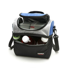 7l Double Layer Picnic Bag Oxford Cloth Food Thermal Cooler Lunch Box Storage Organizers Portable Insulated