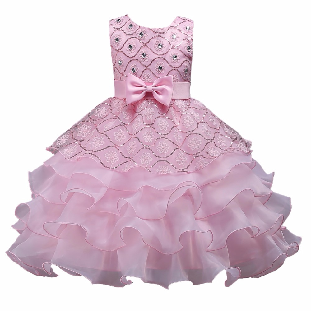 Princess   Flower     Girl     Dress   Summer Tutu Wedding Birthday Party   Dresses   For   Girls   Children's Costume Teenager Prom Designs 3-14y
