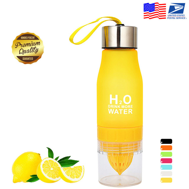 Travel Lemon Juicer Water Bottle