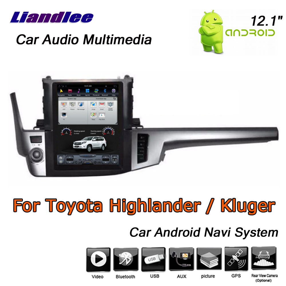 Liandlee 12 1 Quot Android For Toyota Highlander Kluger Xu50