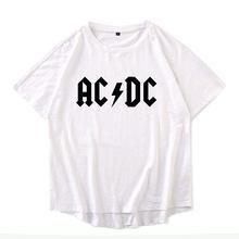261c9f2198e Breathable Cotton circular arc clothes Plus size XS-4XL Men ACDC Letter Print  tshirt man O Neck Men s Short Sleeve Tee Shirts
