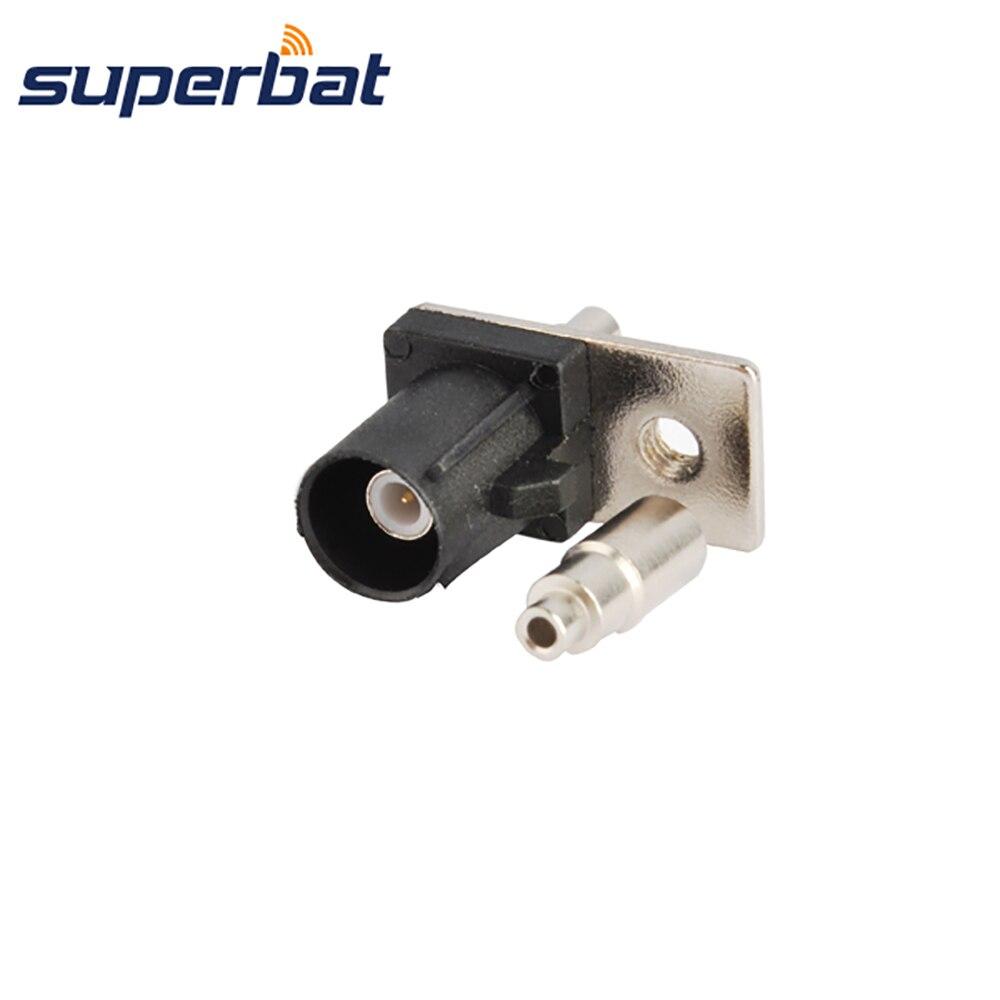 Superbat RF Coax Connector Fakra Crimp Male Plug Flange Connector Black/9005 For Cable 1.13mm,1.37mm