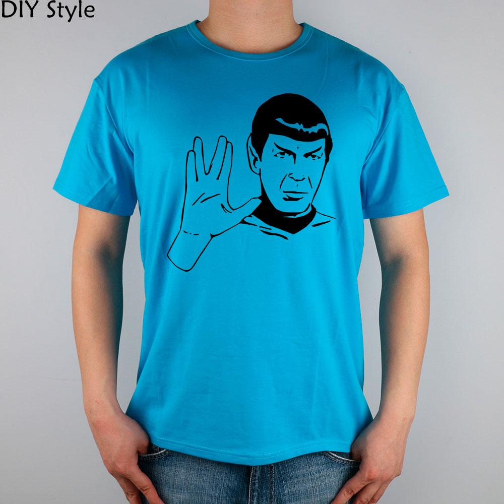LIVE LONG AND PROSPER SPOCK STAR TREK men short sleeve T-shirt new arrival Fashion Brand t shirt for men